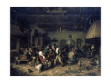 The Tavern Posters by Adriaen Van Ostade
