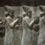 Cortege of Babylonians with Tribute, Audience Hall of Darius I Photo