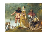 Embarkation for Cythera Posters af Jean-Antoine Watteau
