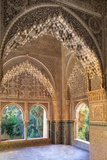 Alhambra, Nazari Palace, Palace of the Lions,Hall of Aljimences, 9-14th C, Granada, Spain Photo