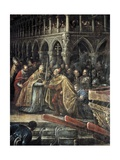 Meeting of Pope Alexander III and Doge Ziani Print by Francesco Bassano
