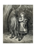 Little Red Riding Hood and the Wolf in the Forest Prints by Paul Gustave