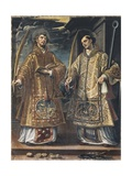 Saint Lawrence and Saint Stephen Giclee Print by Alonso Sanchez Coello