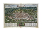 Map of Rome Print by Abraham Ortelius
