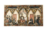 Alfonso X (1221-1284) Surrounded by Musicians and Scribes Kunst