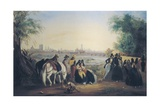 Ladies and Men on the Banks of the Rimac River in Lima Print by Johann Moritz Rugendas
