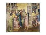 Saint Eligius before the King Chlothar Giclee Print by Taddeo Gaddi