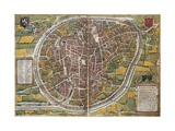 Map of Brussels Giclee Print by Abraham Ortelius