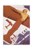 Loor for Heroes, Republican Spanish Civil War Poster Art by Arturo Ballester