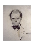Portrait of Pau Casals Prints by Ramon Casas i Carbo