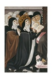 Altarpiece of Franciscan Advocation (Detail with Nuns) Poster by Lluis Borrassa