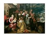 Adoration of the Magi Prints by Frans III Francken