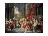 Family of Philip V Poster von Louis Michel Van Loo