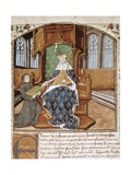 Charles VII of France (1403-1461) Receives the 'Chroniques De France' from the Author Prints