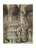 Altar Called 'El Transparente' , Cathedral of Toledo Giclee Print by Jenaro Perez Villaamil
