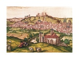 View of Burgos with Shepherds and Cattle Giclee Print by Abraham Ortelius