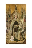 Saint Dominic Enthroned as Abbot Prints by Bartolome Bermejo