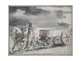 Munition Cart Drawn by Two Horses Posters by Théodore Géricault