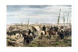 Italian Camp at the Battle of Magenta Giclee Print by Giovanni Fattori