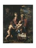 La Sainte Famille Reproduction procédé giclée par  Raphael