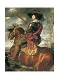 Equestrian Portrait of the Count-Duke of Olivares Poster by Diego Rodriguez de Silva Velasquez