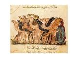 Camel-Driver, Assemblies of Al-Hariri Art by Yahya ibn Mahmud Al-Wasiti