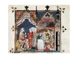Charlemagne's Last Will and Coronation of Louis the Pious 814 Print