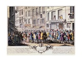 Paris, Rue Quinquempoix, 1720 Posters by Antoine Humblot