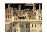 Good Government on the City Life Giclee Print by Ambrogio Lorenzetti