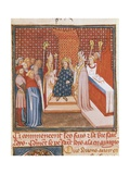 Coronation of Louis IX, Saint Louis, of France in 1226 Posters