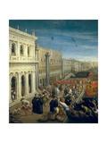 Riva Degli Schiavoni, Venice (Detail) Giclee Print by Leandro Bassano