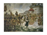 Roger De Flor in Constantinople with 8000 Soldiers in 1303 Posters by Jose Moreno Carboner