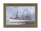 Ship of Norddeutscher Lloyd-Bremen Company Art