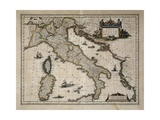 Map of Italy Posters by William and Jan Blaeu