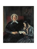 Mother and Sister of the Artist Prints by Louis Gallait
