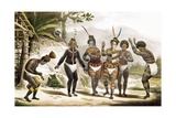 Indians Dancing at the San Jose Mission Prints by Jean Baptiste Debret