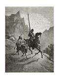 Don Quixote with Sancho Panza Prints by Gustave Doré