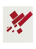 Eight Red Rectangles Print by Kasimir Malevich