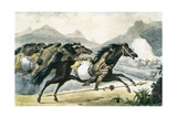 Guaicuru Riders Giclee Print by Jean Baptiste Debret