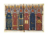 Illustration of the Temple of Solomon, 'Scholastic History' , 12th C Prints by Pedro Comestor