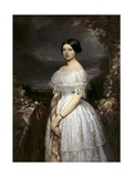 Portrait of Viscountess of Biolley Posters par Louis Gallait