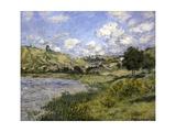 Landscape, Vetheuil Print by Claude Monet