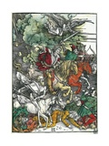 Four Horsemen of the Apocalypse: Pestilence, War, Famine and Death Giclee Print by Albrecht Dürer