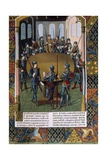 King Arthur and Knights of the Round Table Prints by Maitre Jacques de Besancon