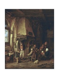 Skaters: Peasants in an Interior Prints by Adriaen Van Ostade