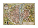 Map of Paris Giclee Print by Abraham Ortelius