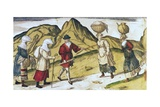 Biscayans and Gascons Going to Market Giclee Print by Abraham Ortelius