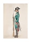 Soldier in Uniform of the Cisalpine Republic, in Napoleonic Italy Art