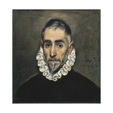Portrait of an Unknown Gentleman Láminas por  El Greco