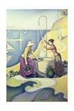Mujeres en el patio Arte por Paul Signac